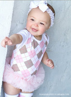 Wholesale 2013 summer new Baby kid s clothing baby One Piece Romper pink lattice rhombus tutu rompers hot