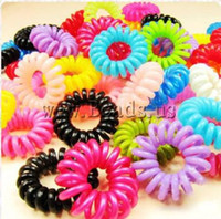 Wholesale 19 USD Hair Elastic plastic telephone line tie mixed color mm Bag So