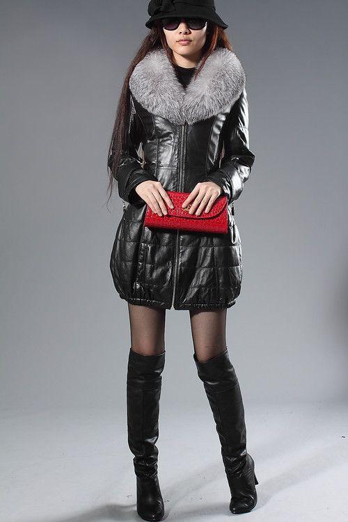 2017 Designer Leather Jackets Women Luxury Sheepskin Jacket With