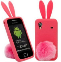 ace bunny - 10pcs Sencart Lovely Rabbit Bunny Silicone Skin Case Cover For Samsung Galaxy Ace S5830 pink Fre