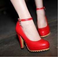 high heel red sole - 2013 Spring Autumn Sexy Soles Dichotomanthes Strap Platform High Continental heel Dress singleShoes
