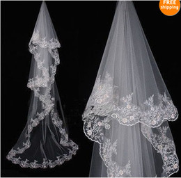 Wholesale high quality T White Cathedral Wedding Bridal Veil M