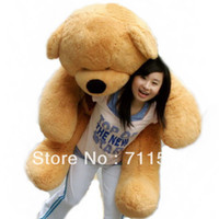 Wholesale Full cm M Light Brown teddy bear toys Plush Christmas present embrace doll lov