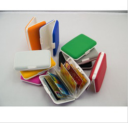 Wholesale NEW High Quality Fashion HOT Silicone Card Wallets Credit card Holder wallet cases card holders bank case with box Colors you can choose