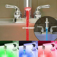 Wholesale Temperature Sensor Color Water Tap Faucet RGB Glow Shower Colorful LED Light YHF