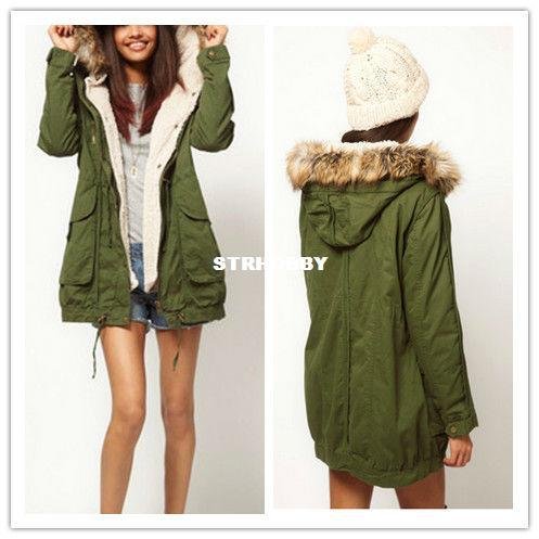 Best Women Thicken Fleece Warm Winter Coat Zip Hooded Parka ...
