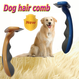 Wholesale Brand anget Pet brush for grooming cleaning Blue Yellow