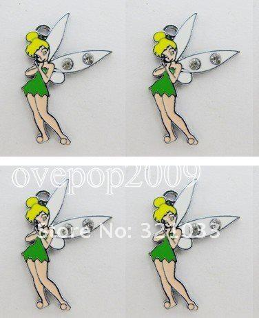 2017 Green Tinkerbell Diy Metal Charms Jewelry Making ...