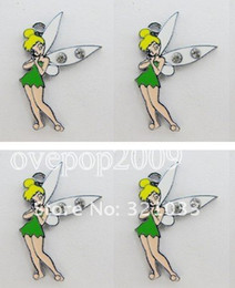 Wholesale 100 Green Tinkerbell DIY Metal Charms Jewelry Making pendants Party Gifts
