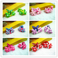 Headbands Blending Floral New Arrival Multicolor Flower Hairbands Hair Clips Set Cute Hair Jewelry For Kids 36SET LOT BFS073
