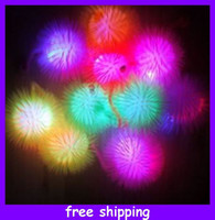 Wholesale Hedgehog Ball Light Flash Plush Ball Glow Toys Yoyo Elastic Ball