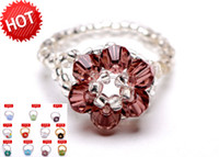best girls band - Best Selling Rings Cute Crystal Finger Rings Multi Color Girl Rings JZ139