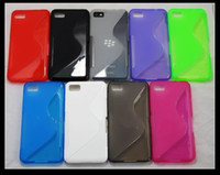 Wholesale New Arrival Soft TPU S Line Skin Silicone Rubber Case Cover Shell for Blackberry Z10 Mix Colors