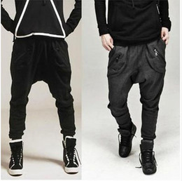 Wholesale casual pants mens fashion harem pants leisure cotton sport trousers zipper pocket desgin M XXL x77