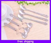 Wholesale New Arrival Stainless Steel Smile Face Crooked Spoon Travel Twisted Smile Spoon Teaspoon