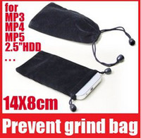 Wholesale Velvet Pouch Case Bag For phone Mp3 mp4 Mp5 hdd