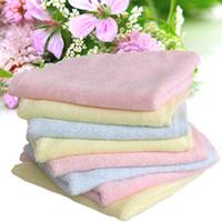 Wholesale GOOLEKIDS bamboo fiber baby towel kids facecloth x25cm Natural