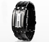 Wholesale 1pcs HOT Cheap fro Luxury watches tungsten steel Watch men men led watches