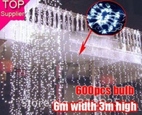 Wholesale Wedding party LED curtain icicle net Christmas lights home garden lamps our dool led