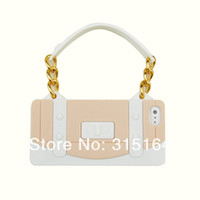 Wholesale high quality luxury designer silicone soft handbag case cover for iphone g ups dhl