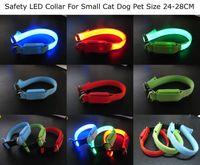 Pequeño Gato Perro de Seguridad LED Collar de Tamaño 24-28 CM