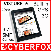 Wholesale Visture i9 Tablet PC Dual Core MTK6577 Android Built in G GPS Bluetooth MP Camera GB