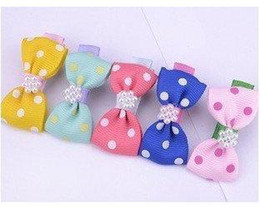 Wholesale HOT sell Dog pet hair bows dog hair accessory accessories pearl hot selling