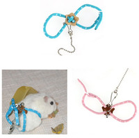 Wholesale Fashion Adjustable Rat Mouse Harness Lead Ferret Hamster Nylon Rope New Pet Harness