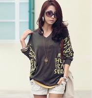 Wholesale Pluse Size Cotton woman shirt V neck design bat style fashion lady blouse Color option