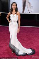 Reference Images avatar red - Avatar Zoe Saldana Sweetheart Floor Length Court Train th Oscar Celebrity Party Dresses
