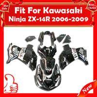 Wholesale Fairing for Kawasaki Ninja ZX14 ZZR1400 ZX14 R ZX R ZX R West Black White