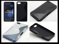 Wholesale Promotion Soft TPU Silicone Case S Line Wave Style Skin Cover Shell for Blackberry Z10 BB