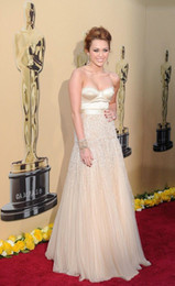 Wholesale 2010 nd Oscar Annual Academy Awards Miley Cyrus Celebrity Dress A line Sweetheart Beaded