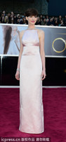 Wholesale Pink Gown Satin Evening Oscar Celebrity Dresses By Anne Hathaway th Annual Academy Awards