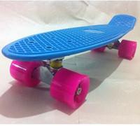 "Cheap free shipping 22"" Penny Nickel Skateboard drift Block Neon PV Cruiser Mini Longboard Complete"