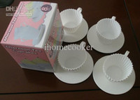 Wholesale Set of Tea Cup Silicone Cupcake Molds silicone tea cup design cupcake moulds baking trays