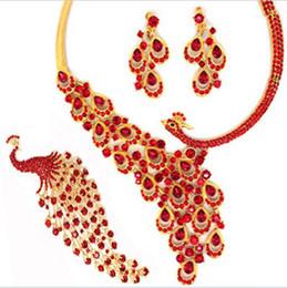 Red stunning bridal wedding dress Accessories Tiaras & Hair set of the bride 01