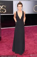 Oscar Awards bark color - 2013 th Oscar Sexy Dress Samantha Barks Deep V Neck Sheath Floor Length Celebrity Prom Dresses