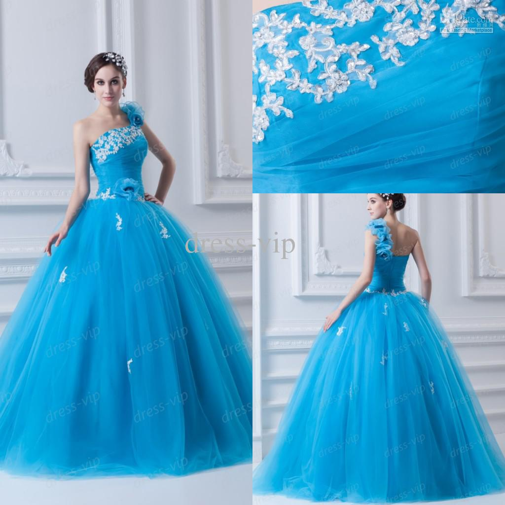 2013 Latest Real Sample Ball Gown Floor Length Applique One ...