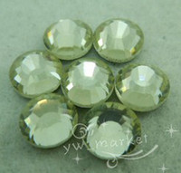 Wholesale MIC SS30 mm DMC Hotfix Light Yellow Crystal Rhinestones