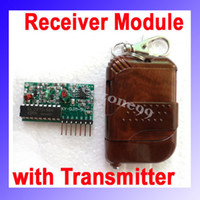 Wholesale DC5V CH Transmitter Receiver Module Wireless Remote Control System IC amp Momentery315MHZ