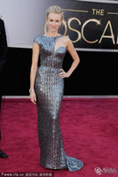 Reference Images award beads - 2013 th Oscar Awards Naomi Watts Attractive Sliver Slim Dress Celebrty Party Dresses