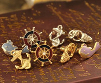 Wholesale 15 off Personality sailor series a variety of styles of earrings pairs