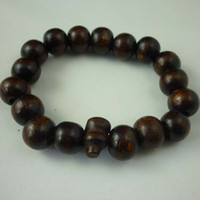 Unisex wood bangles - 100pcs promotion price Black perfume rosary good wood bead religious stretch bangle bracelet