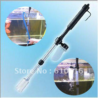 Wholesale New Aquarium Battery Syphon Auto Fish Tank Vacuum Gravel Water Filter Cleaner Washer