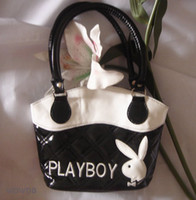 Wholesale B870 CUTE Playboy Handbag small bag purse Black Tote bag