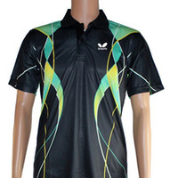 Wholesale 2013 New butterfly Mens Table Tennis clothes Polo Shirts colour