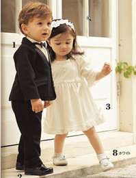 Wholesale Discount Baby Suits Boy Black Suit Dress Boy Wedding Tuxedo Suit Set Clothes shirt tie Pants