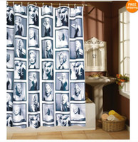 Wholesale 71inch Waterproof Marilyn Monroe Shower Curtain with hooks cm