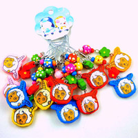 Wholesale sheep animal cell phone Charm cartoon keychain wood pendant baby jewelry gifts